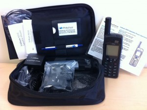 The GlobaFone satellite phone rental kit