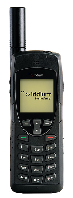 Iridium 9555 satellite phone front view keypad